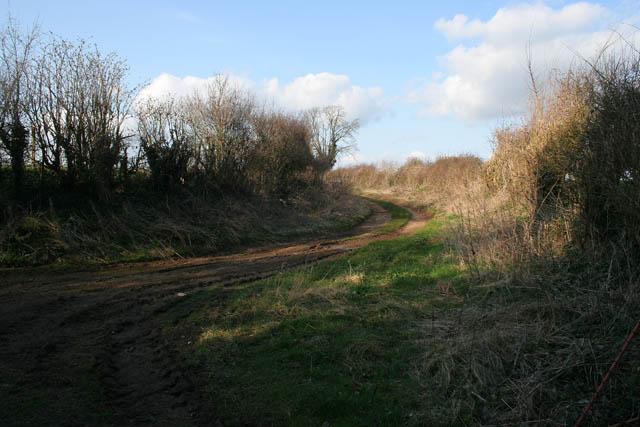 Farm track at Glaston