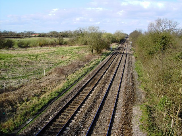 Railway line to Gloucester from Bristol