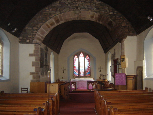 Interior, St David's Church, Llanddewi Rhydderch