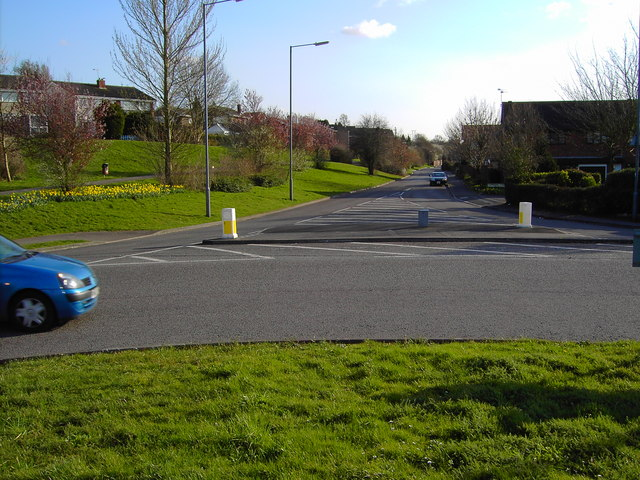 A view south from a roundabout in Yate, Bristol