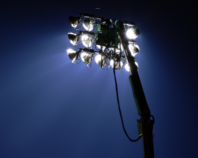 Floodlight at Grace Road Cricket Ground