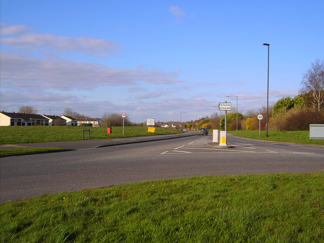 A view north from a roundabout in Yate, Bristol