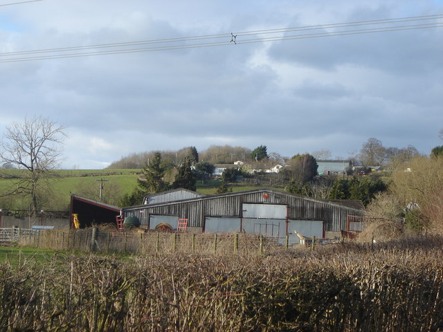Farm buildings north of Llanddewi Rhydderch