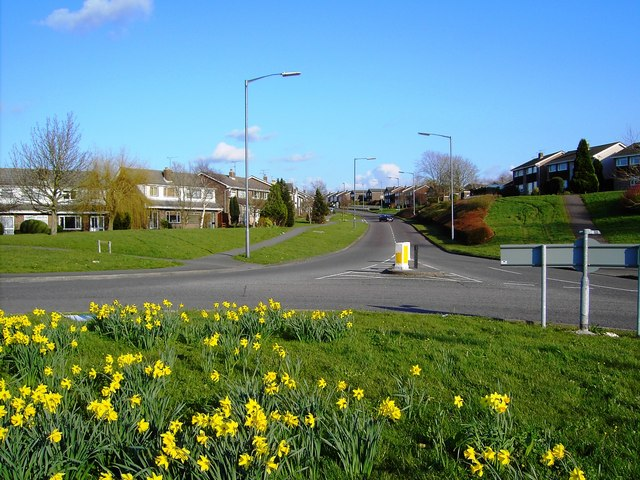 A view east from a roundabout in Yate, Bristol