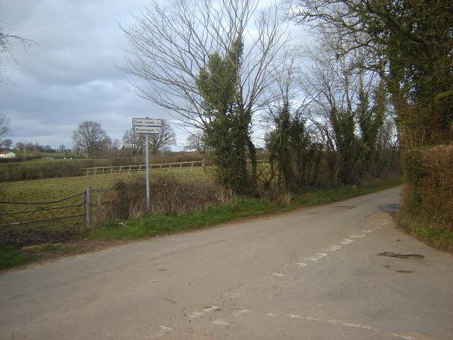 Road Junction between Penpergwm and Coed Morgan