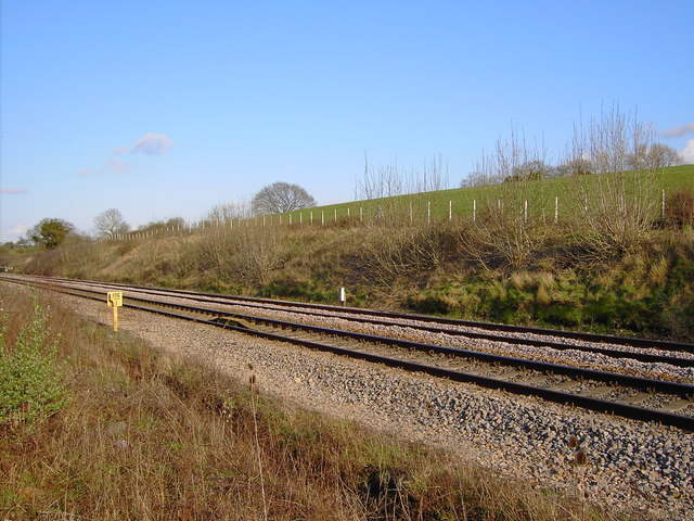 A view of the railway to London from Wales