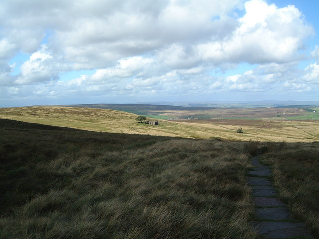 Pennine Way crossing Haworth Moor