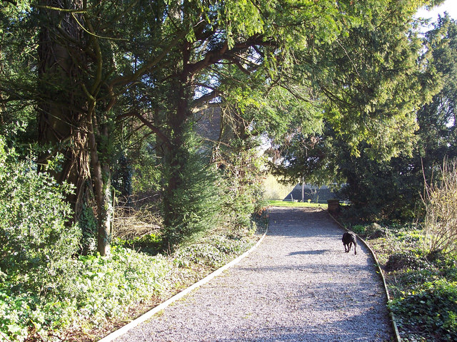 The path to St Peter's Church, Winterbourne Stoke