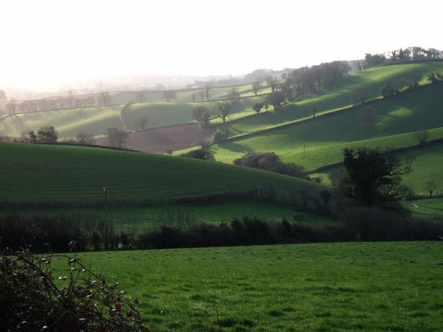 View towards Larkbeare Farm