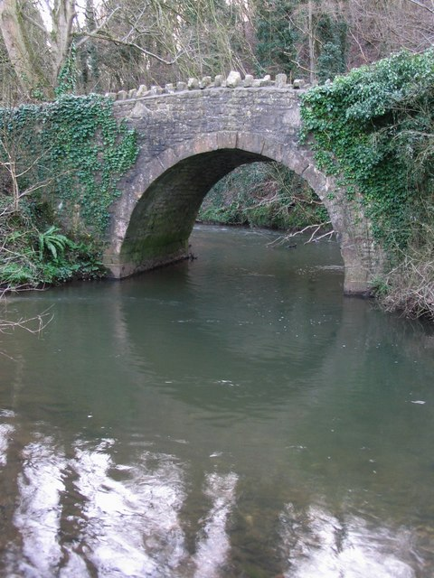 Bridge over the Cam Brook near Splott Farm