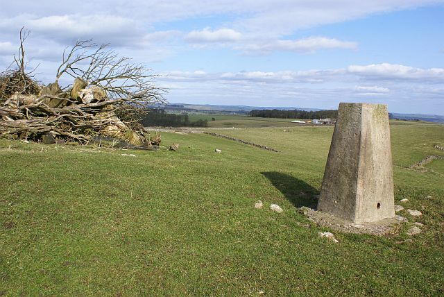 Triangulation pillar on the Weaver Hills