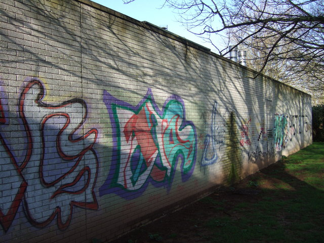 Graffiti at Earl Richards Road North campus