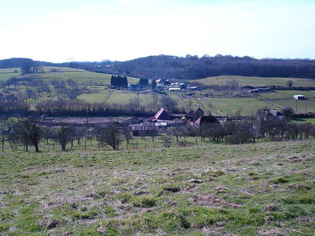 Little Pett Farm from above