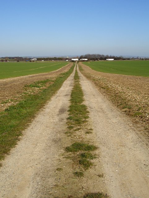 Farm track and motorway