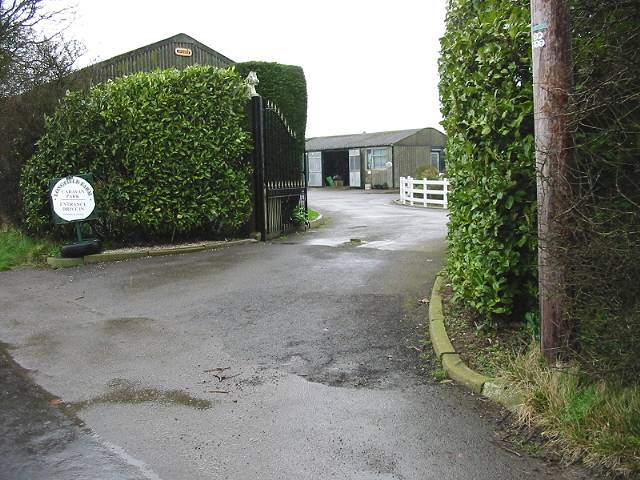 Entrance to Longfield caravan park, Whitfield