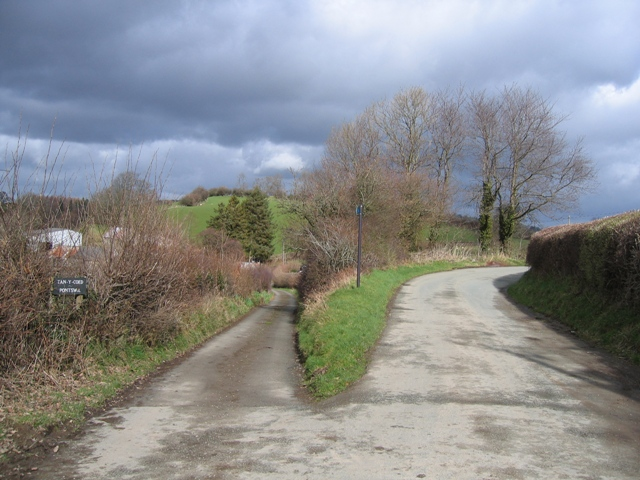 Bridleway Junction at Tan-y-coed