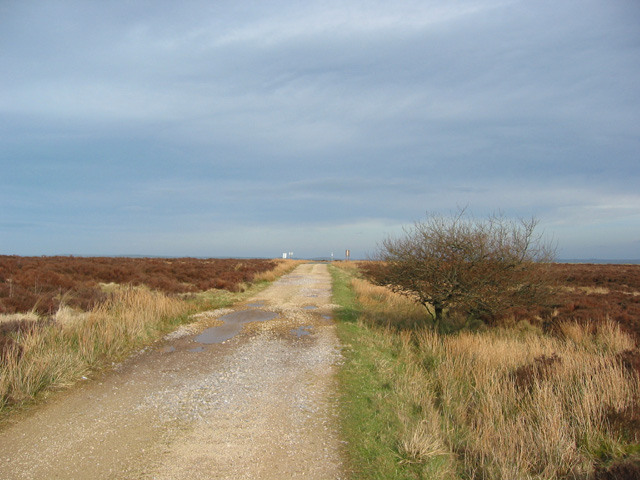 Track to the firing range at Dry Stones