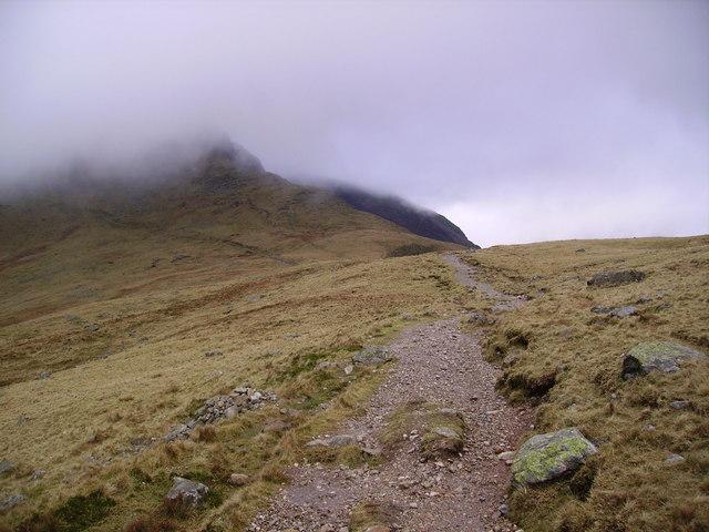 Approaching Bowfell