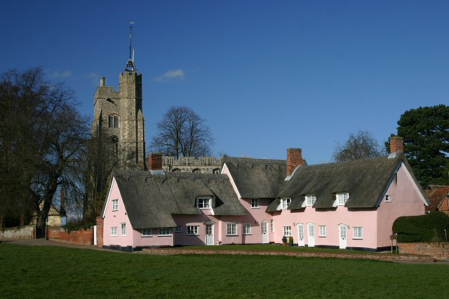 Cavendish church and cottages