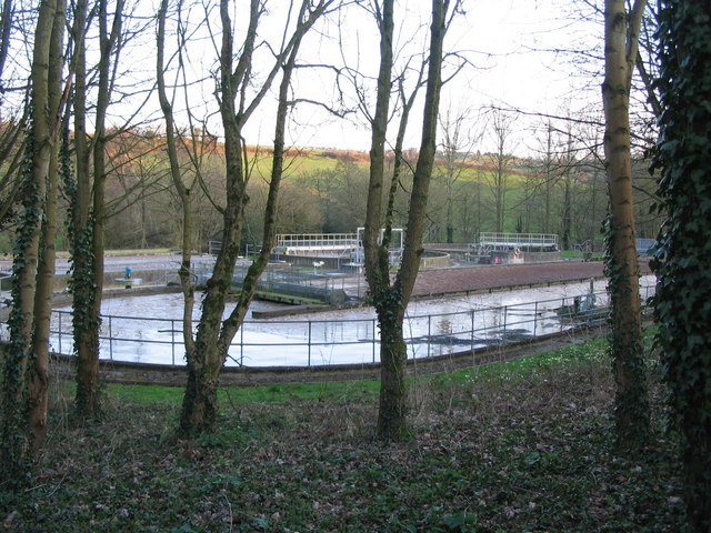 Sewage works off Withyditch Lane