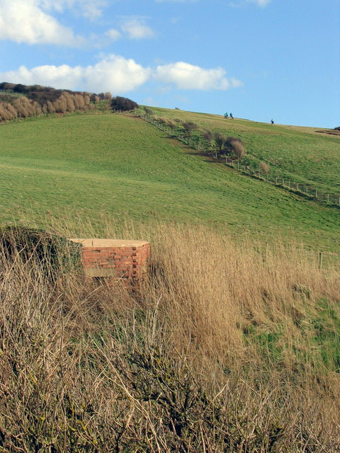 Wartime pillbox defences at Eype.
