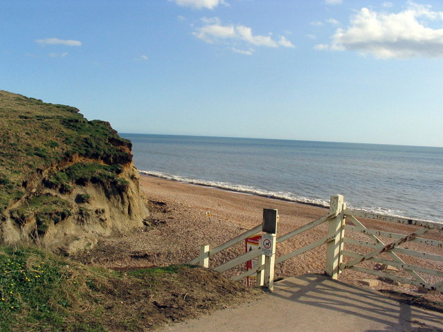 Steps to the beach at Eype