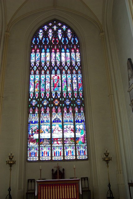 Stained glass window in St Mary's Church