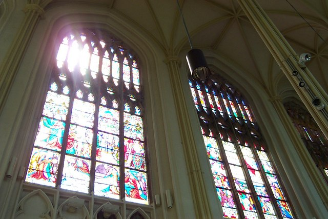 Stained glass windows in St Mary's Church
