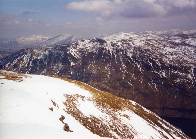 View from lower slopes of Stob a Choire Mheadhoin