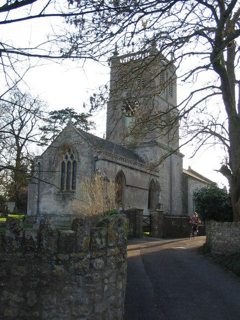 Approaching Priston parish church