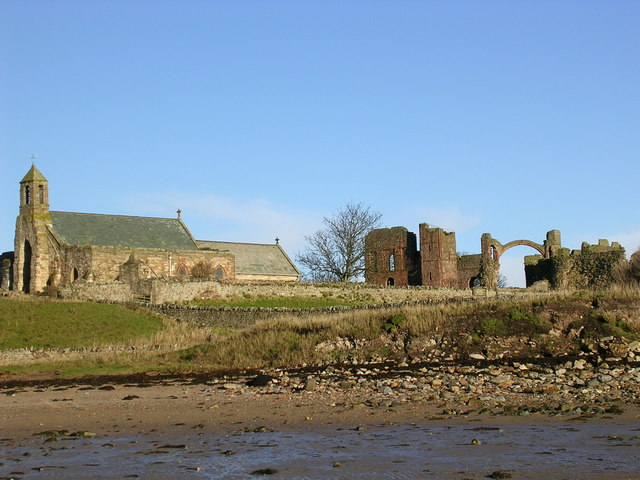 The Priory and church on Holy Island