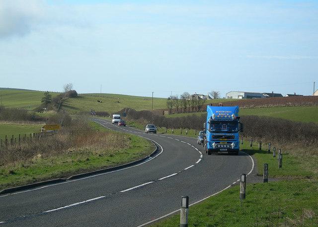 The A77 Near Kirkoswald