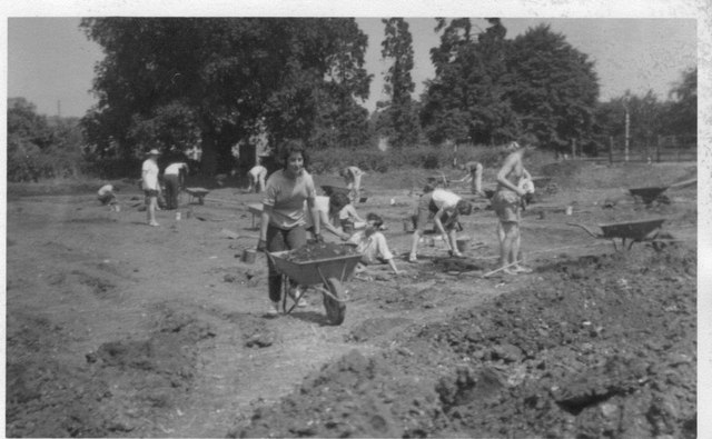 Archaeological dig at Verulamium