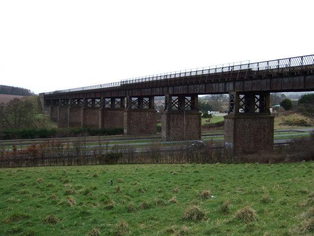 Rail Bridge over Stonehaven bypass.