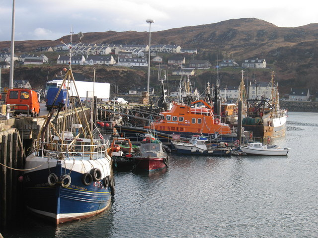 Lifeboat station in Mallaig harbour