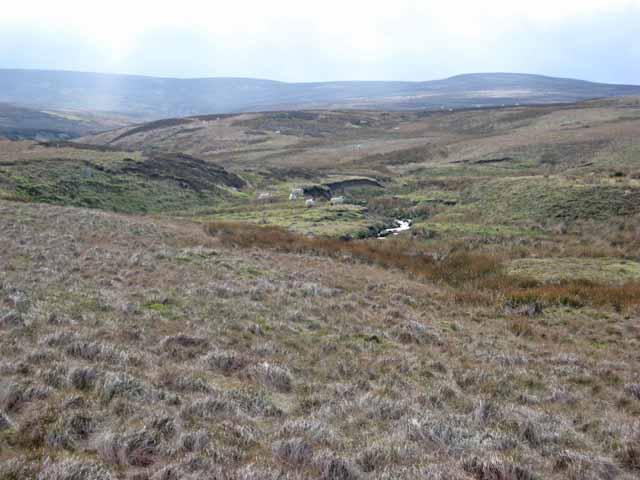 Valley of Annaside Beck and Arkengarthdale Moor