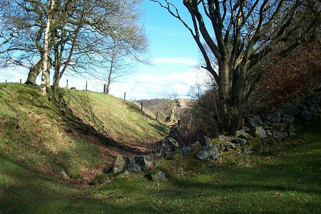 Ditch associated with Antonine Wall at Bar Head
