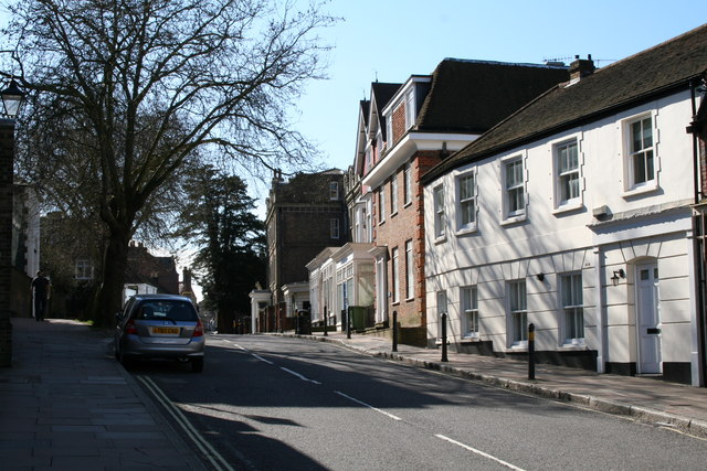 South end of High Street, Harrow on the Hill, Middlesex