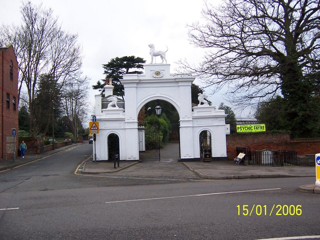 Dog Gate, Bourne Hall and Spring Street, Ewell