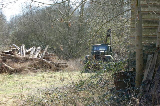 Derelict tow truck