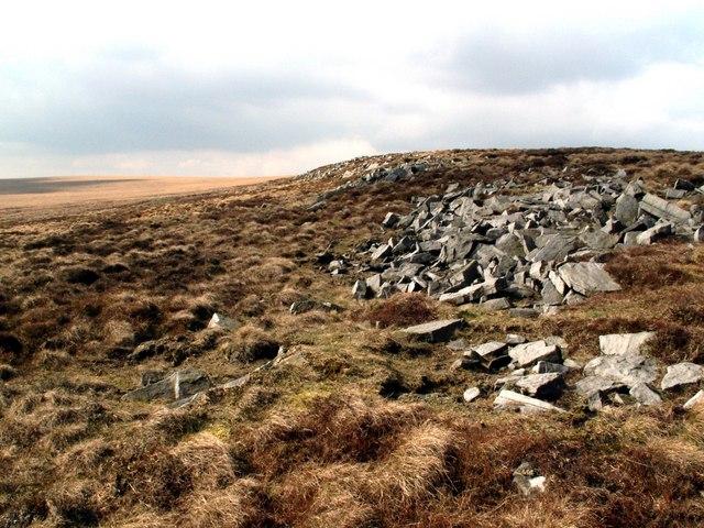 Rocks on Sliddens Moss