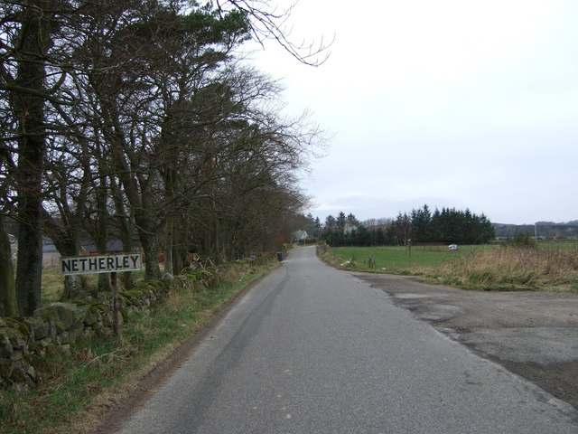 Approach to Netherley from Burnend