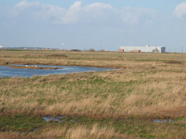 Kings Marsh at Orford Ness with Cobra Mist building
