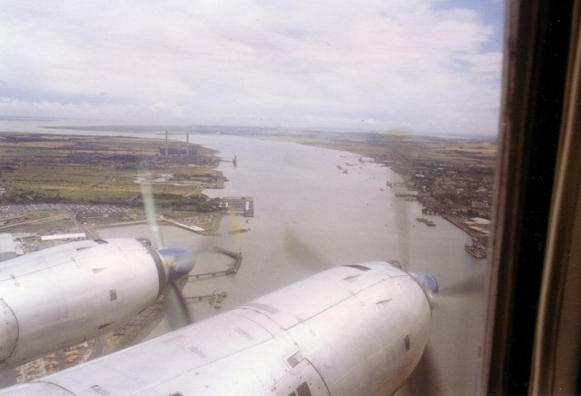Tilbury docks from the air