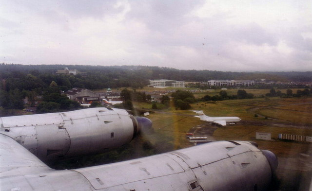 Brooklands aerodrome from the air