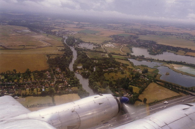 Monkey Island, Dorney Reach from the air