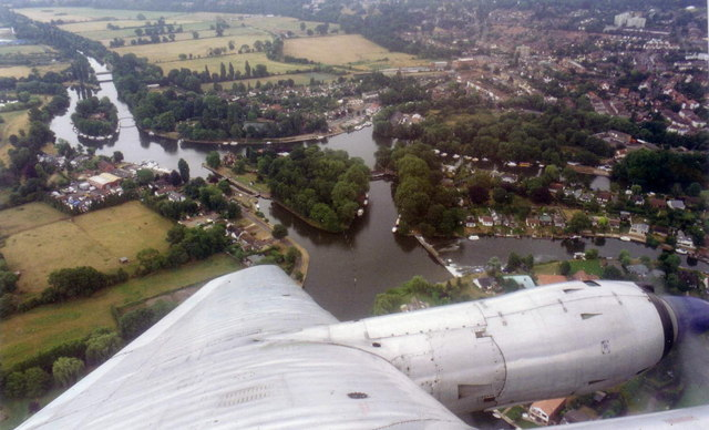 Shepperton from the air