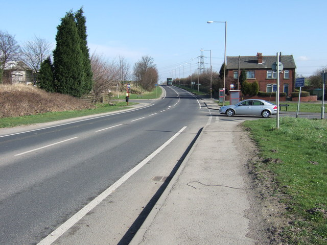 Road Junction at Warmfield