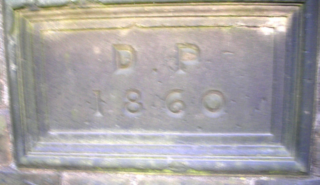 Date stone in wall on Woodhall Lane