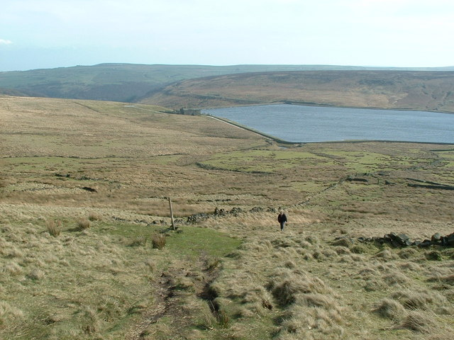 Looking back towards Withins Clough Reservoir